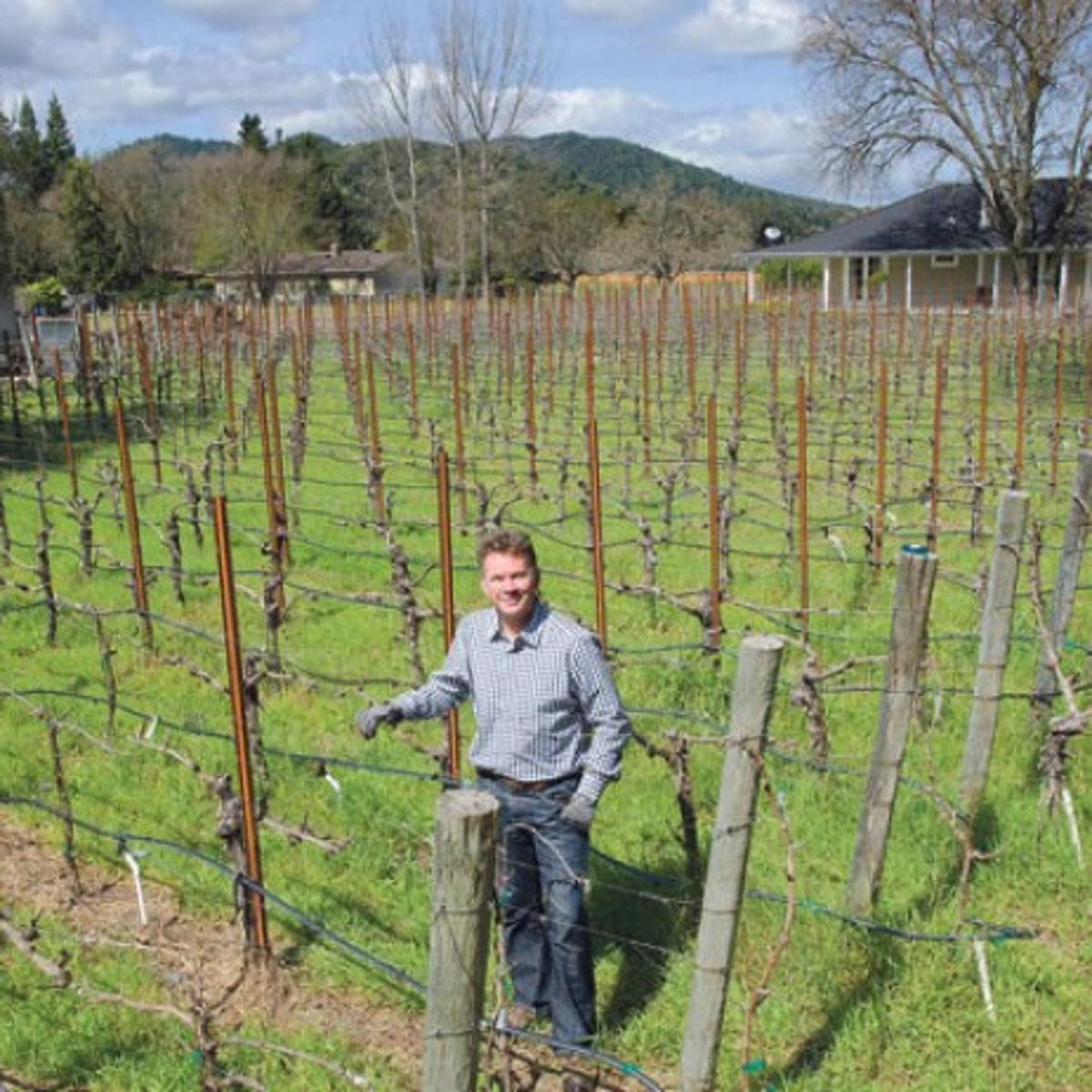 One acre of grapes, one wine is Oak Knoll vintner\'s stock in trade ...