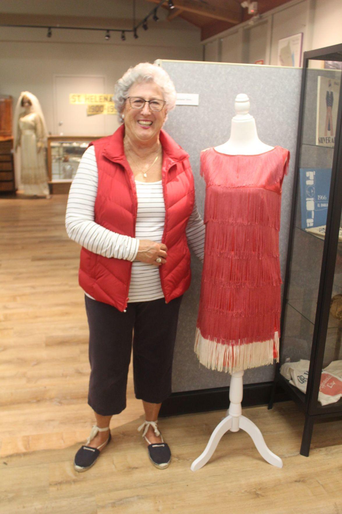 Helen Nelson with dress