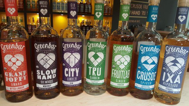 Greenbar Distillery products