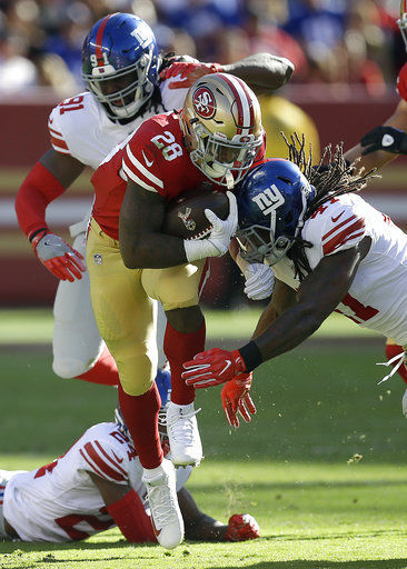 Beathard leads 49ers past Giants 31-21 for 1st win of season