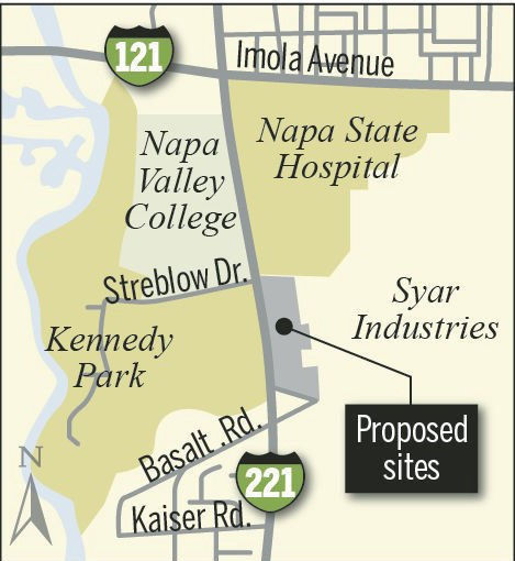 Figure 1. Location of New Jail Facilities