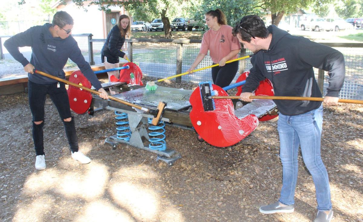 Students at Crane Park