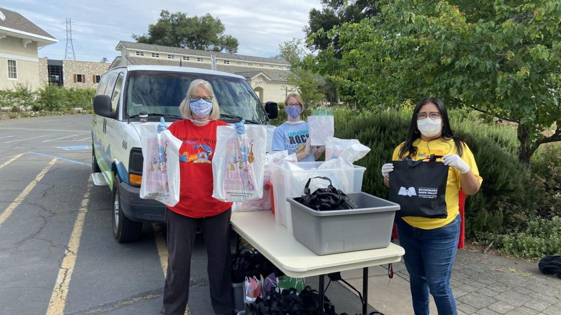 St. Helena Public Library gives books, art supplies to kids