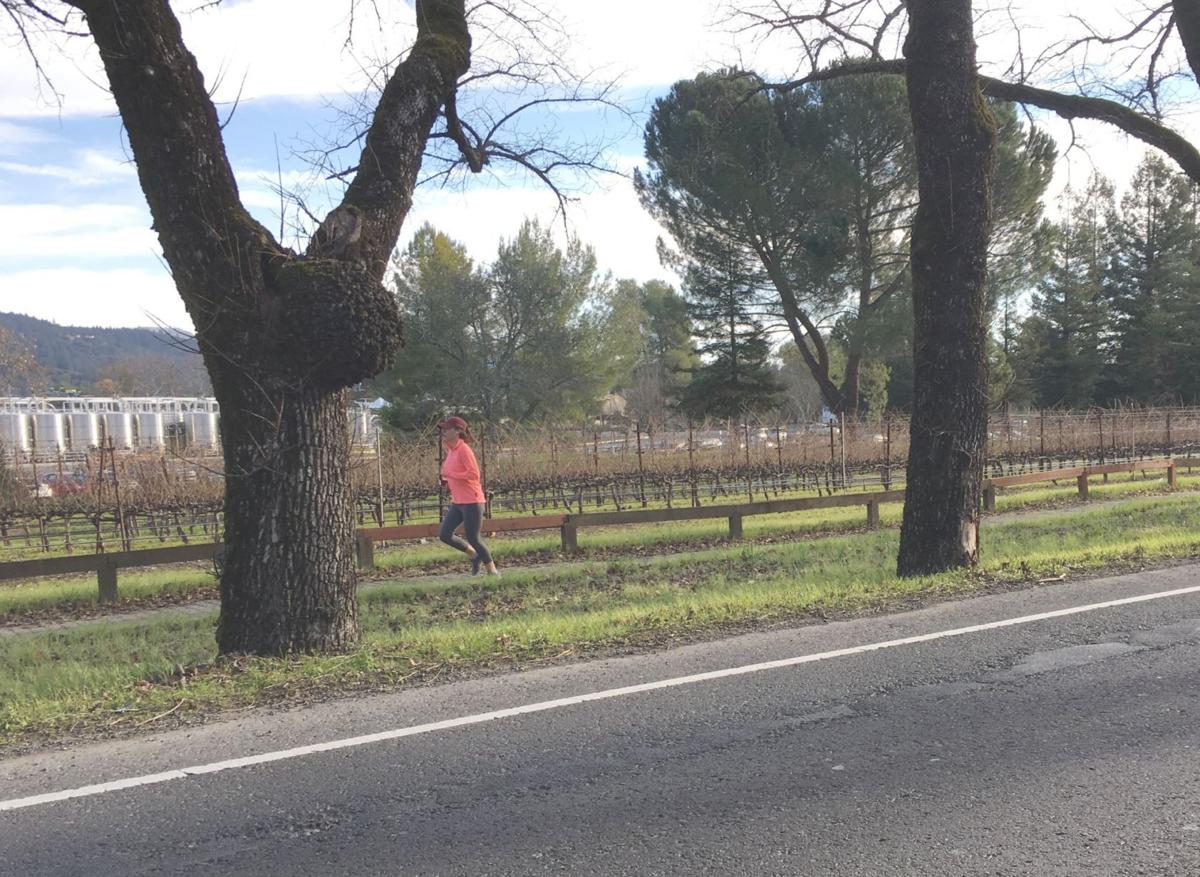 Lone runner on Highway 29