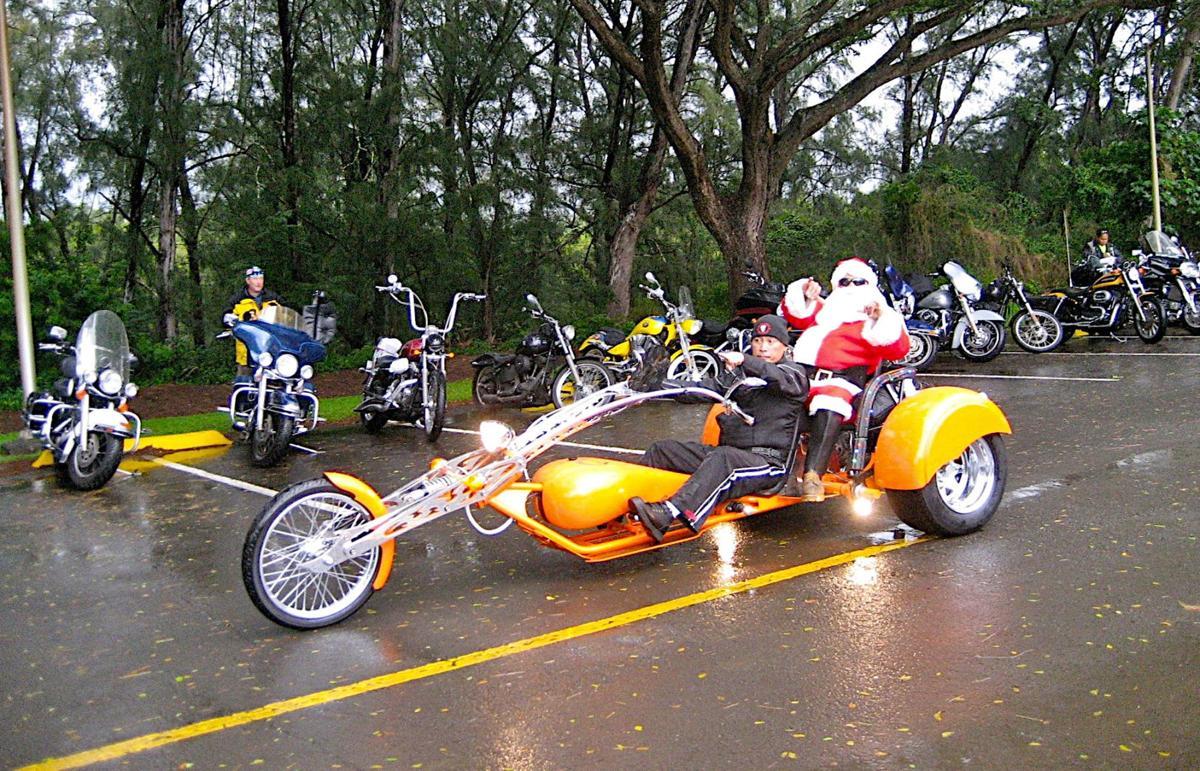 Hawaiian style Santa