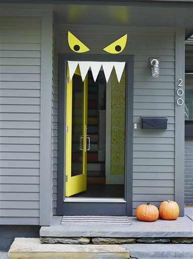 Welcome Halloween With Fun Diy Front Door Decorations