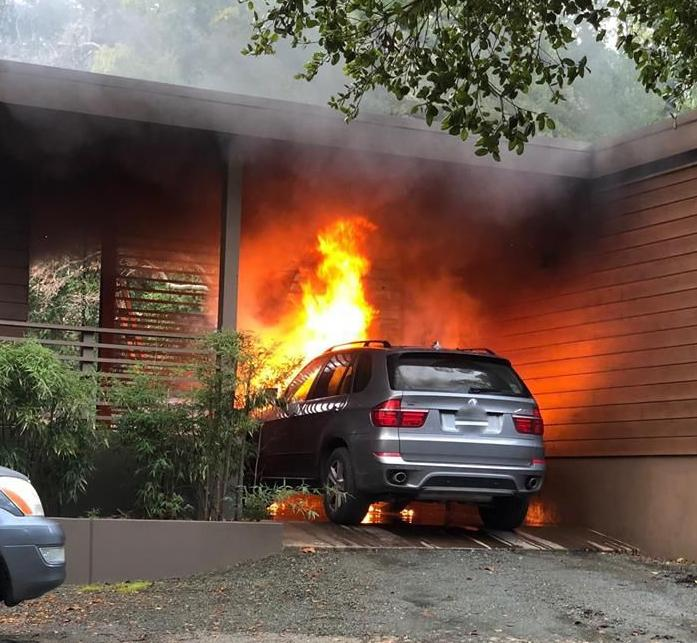 House saved from vehicle fire in St. Helena