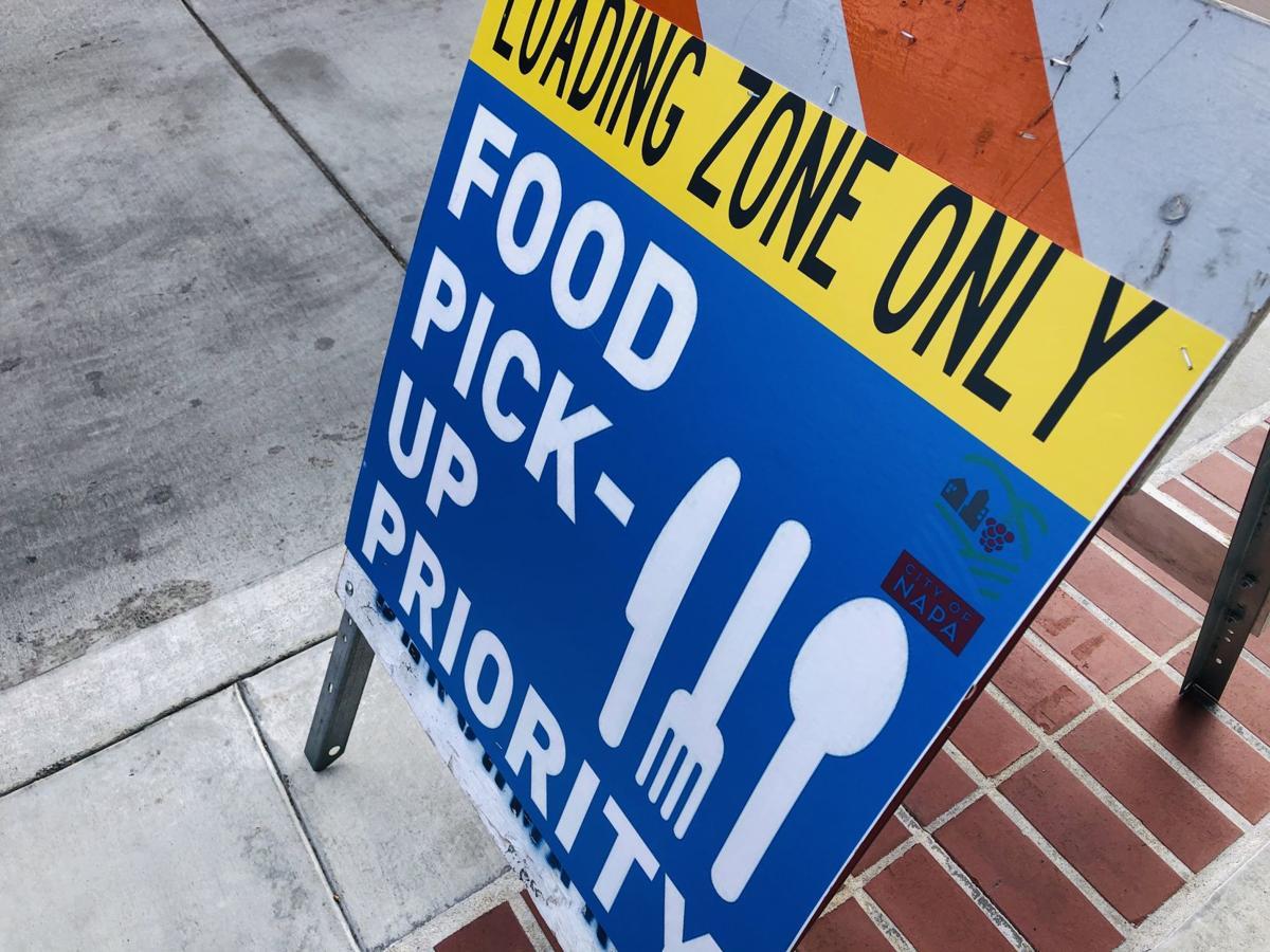 Napa food pick up sign