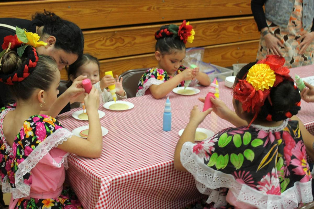 Cookie decorating at the Celebration of Life
