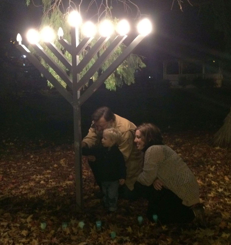 Lighting The Menorah In Lyman Park