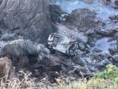 Crews rescue woman who drove off Sonoma County cliff, ran into ocean