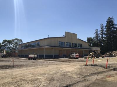 A view of the new River School gymnasium on Salvador Avenue. The school will open in January 2020.
