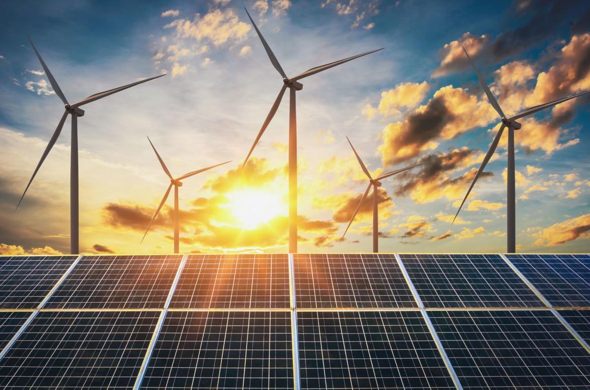 wind turbine with solar panels