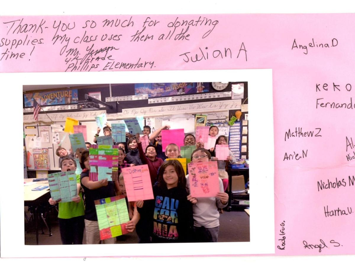Phillips Elementary Class Thank You
