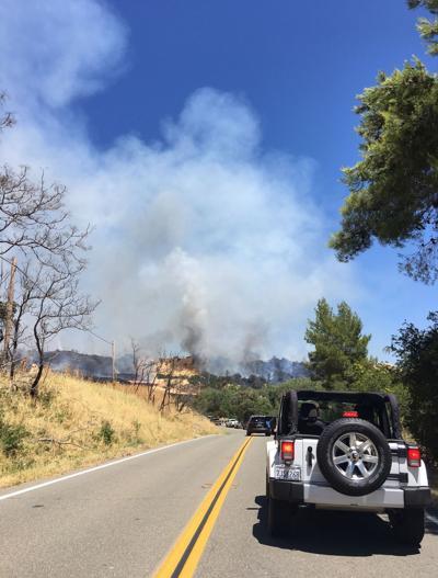 Highway 128 fire