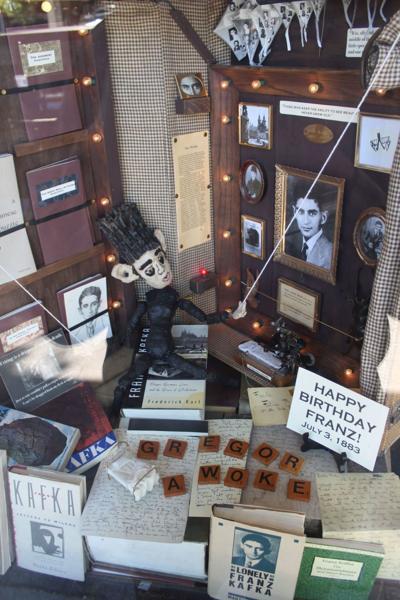 Kafka display at Main Street Books