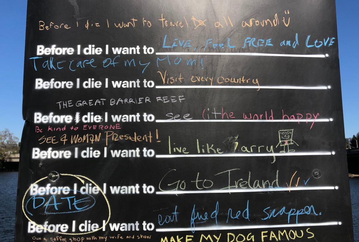 Before I Die project in Napa