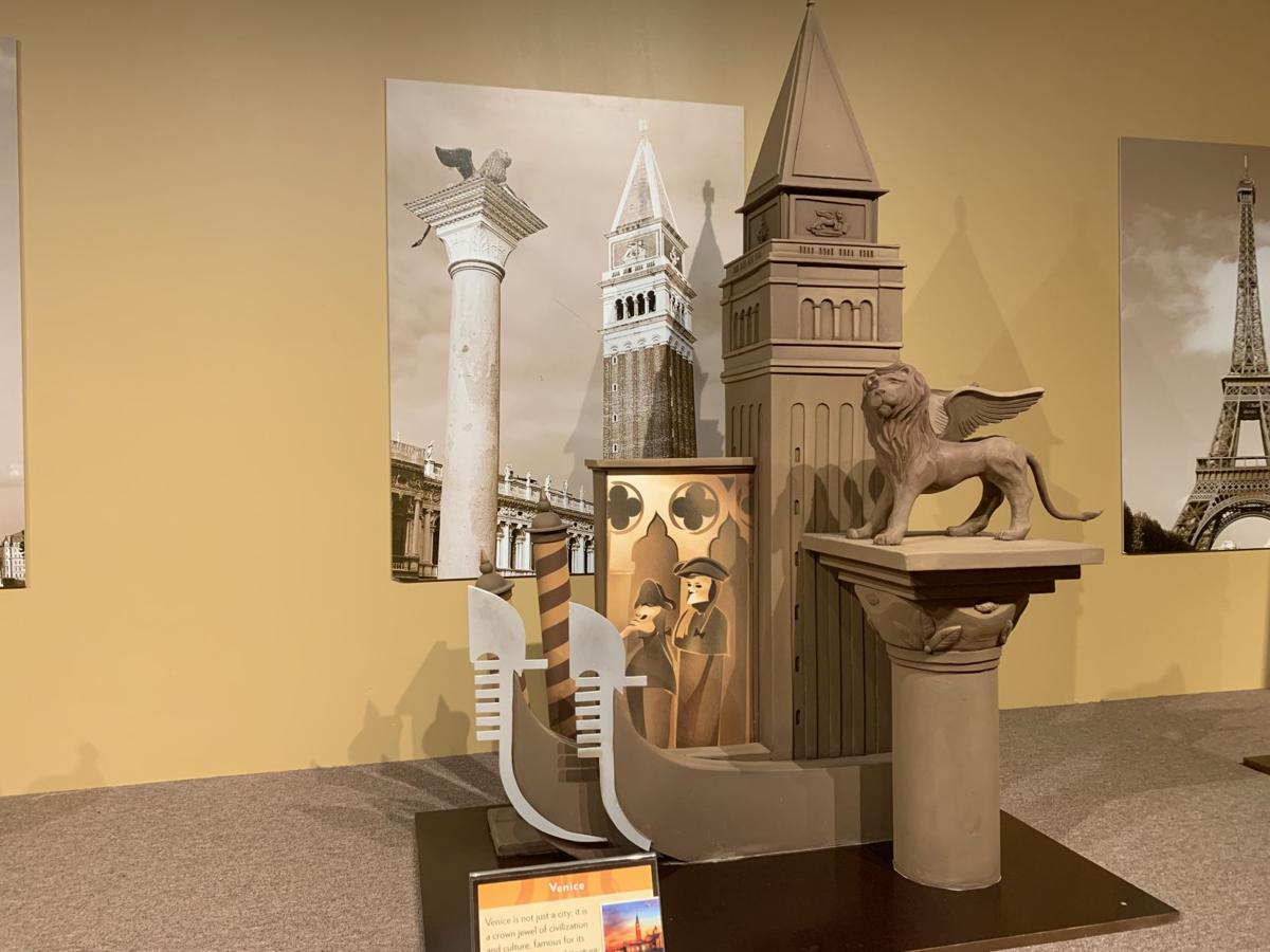 This statue made of cocoa paste at Chocolate Museum & Cafe Orlando is inspired by Venice.