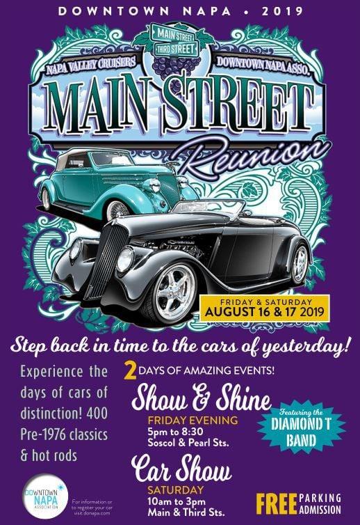 MAIN STREET REUNION CAR SHOW flyer