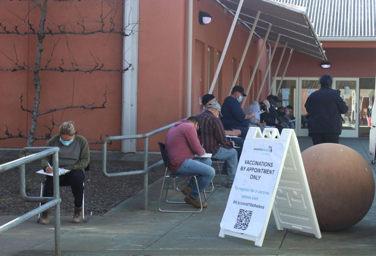 COVID-19 vaccination at Napa Valley College Upper Valley Campus (copy)