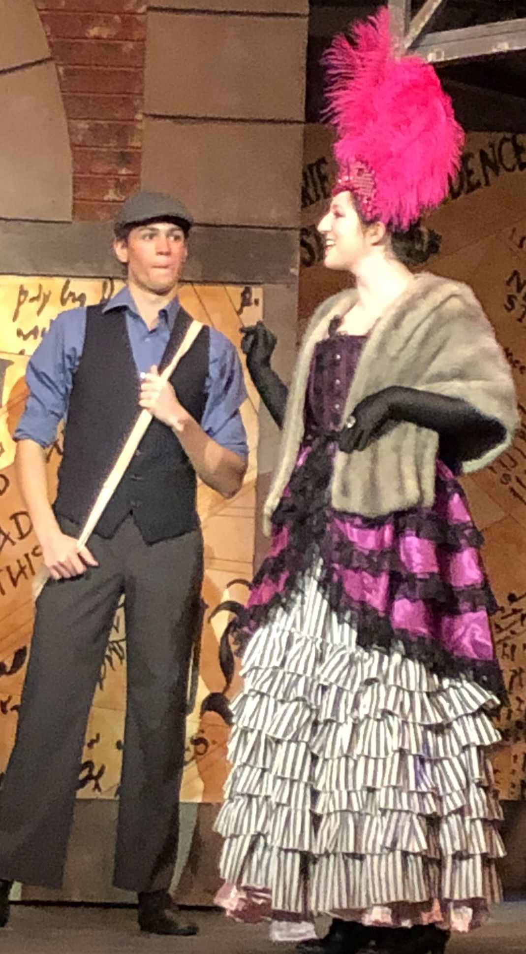 "Sam Smiley and Emma Pierce in ""Newsies"""