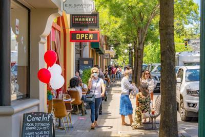 St. Helena shopping June 13, 2020