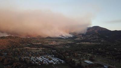 Smoke over Calistoga
