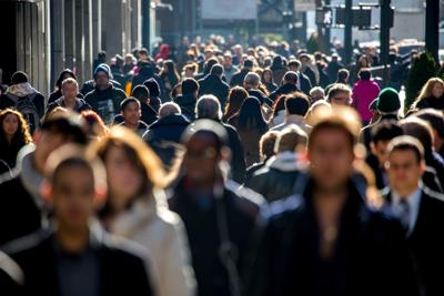 Crowds on a street