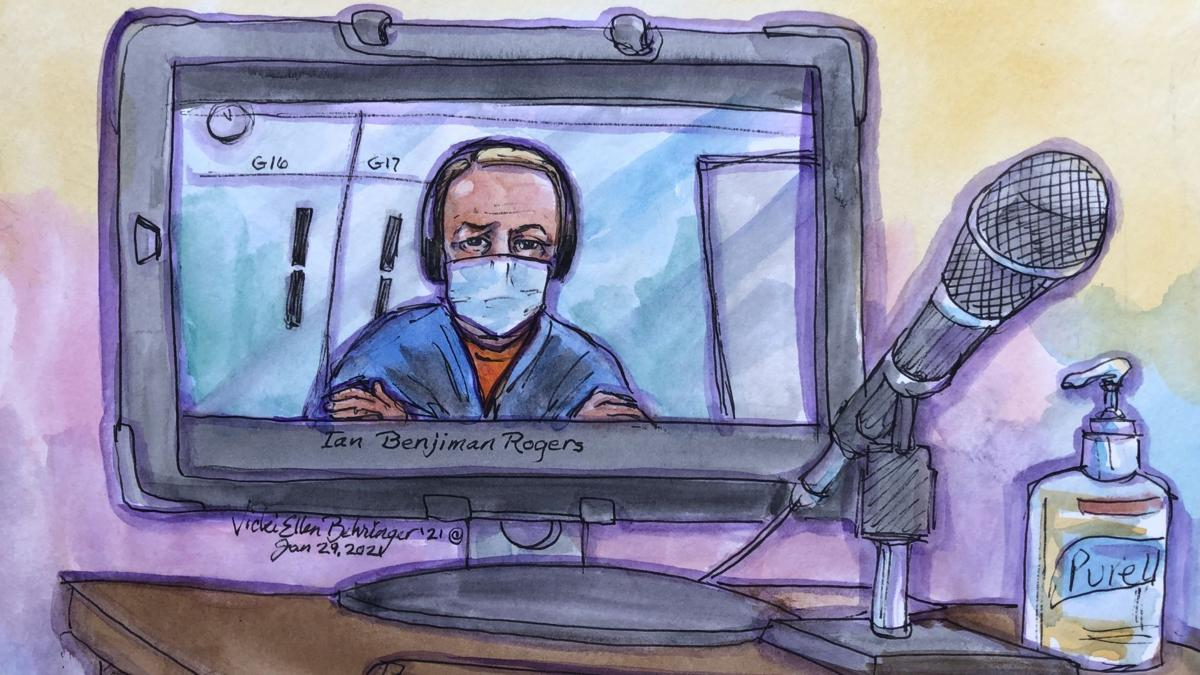 Ian Rogers, courtroom sketch bail1