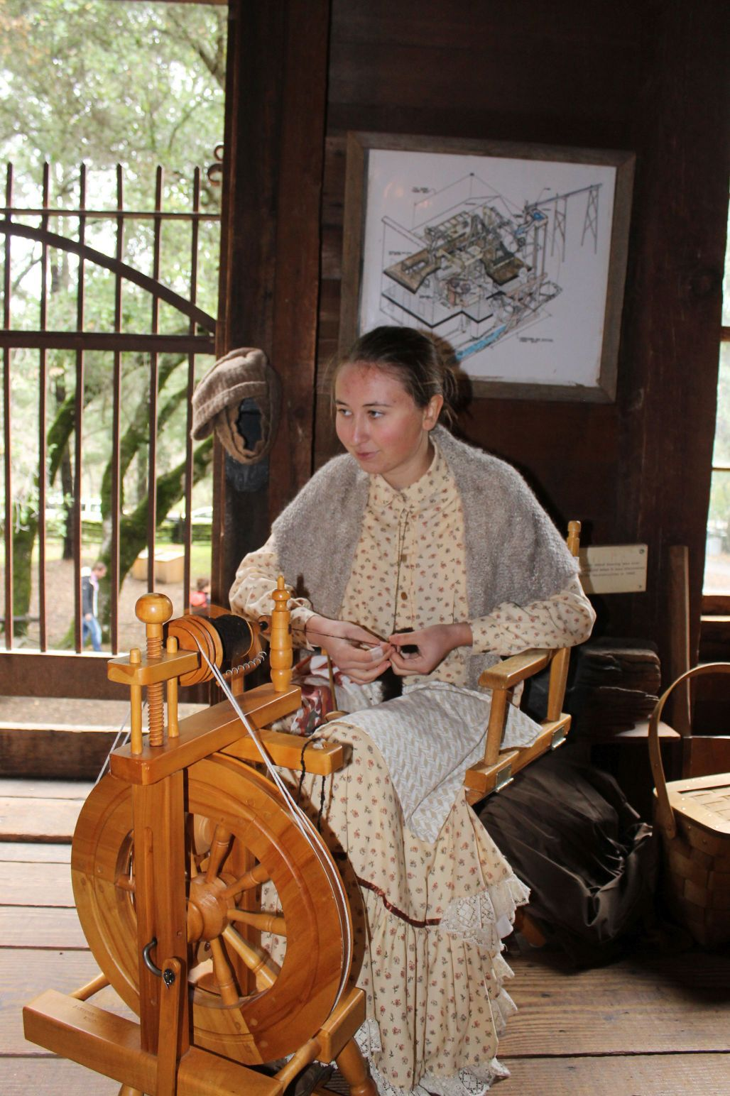 Spinning at the Bale Grist Mill