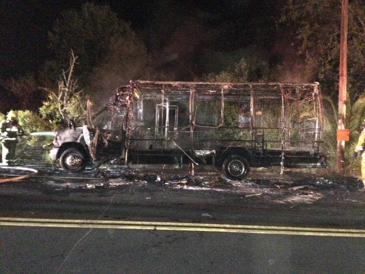 Early Morning Fire Engulfs Bus In South Napa Local News