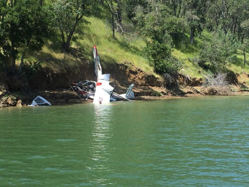An ICON Aircraft plane crashed into a cove at Lake Berryessa on May 8. Both men in the plane were killed