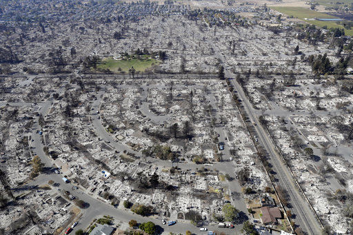 Santa Rosa fire damage
