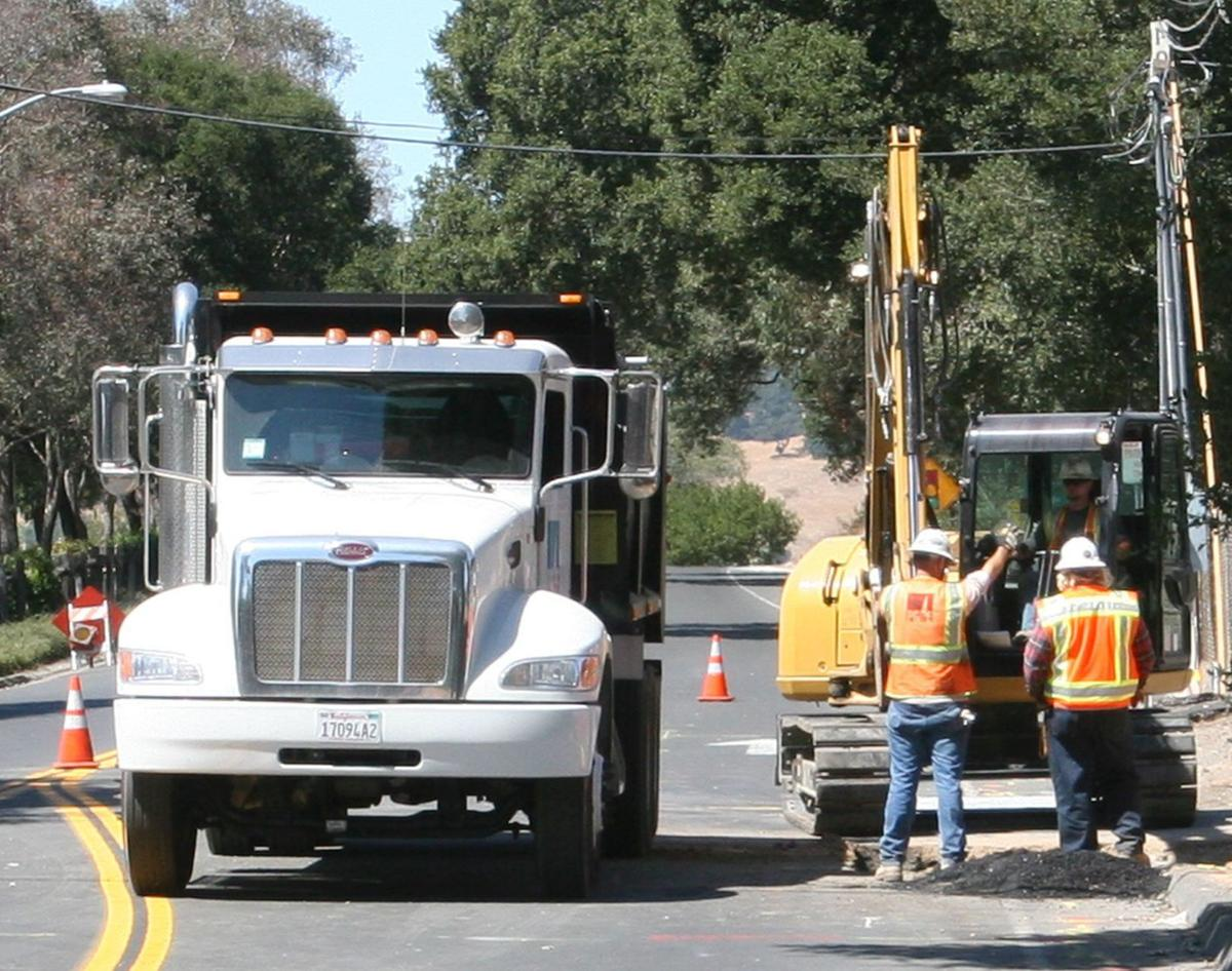 PG&E checks a natural gas transmission in Napa