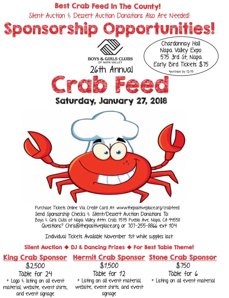 2018 Crab Feed Flier