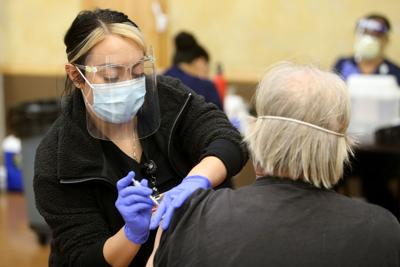 OLE Health coronavirus vaccine clinic in Napa SK
