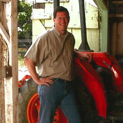 Pete Richmond by tractor