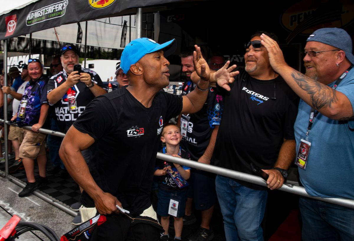 Antron Brown at Lucas Oil NHRA Southern Nationals