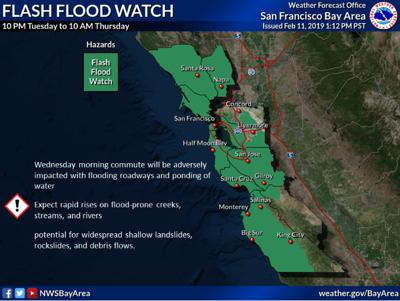 NWS flash flood watch 2/12