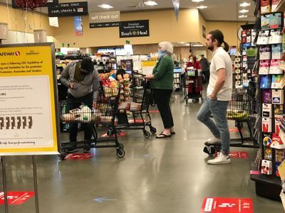 Napa Safeway supermarket during the coronavirus pandemic