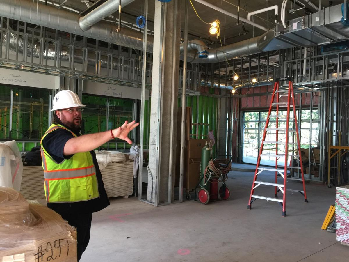 Nate Tanner, executive vice president of asset management at Pacific Hospitality Group, reviews the construction at the Meritage Resort in south Napa