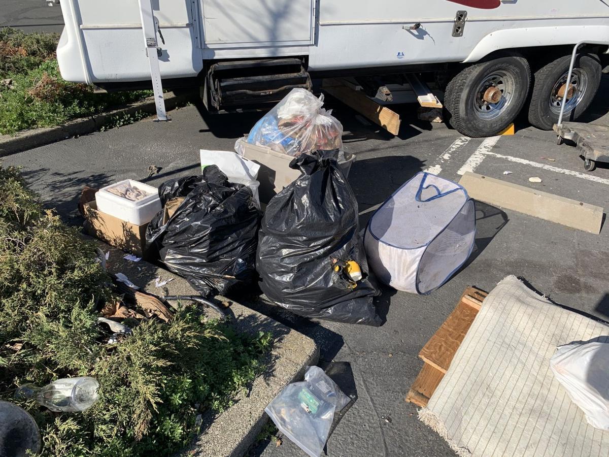 Homeless on wheels in Napa