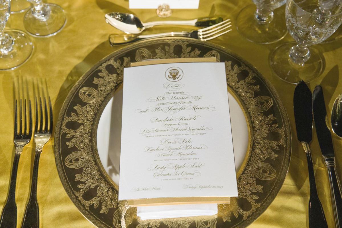 Menu for Trump-Morrison State Dinner