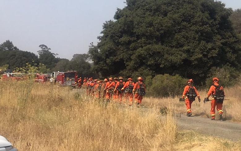 Syar fire crew walking