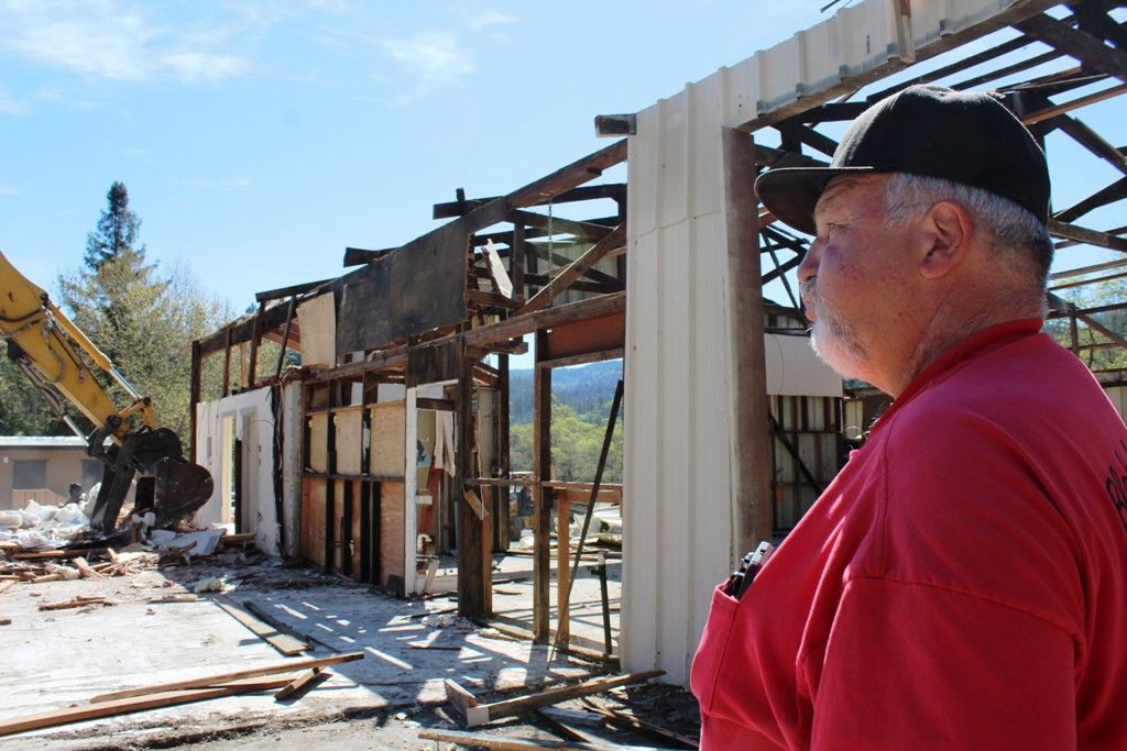 Blakeley Construction demolition of its Calistoga offices