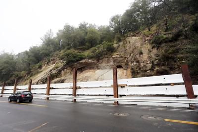 Silverado Trail's temporary repairs after the rock slide (copy)