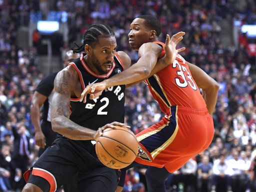 Davis has 25 points, 20 boards, Pelicans top Raptors 126-110
