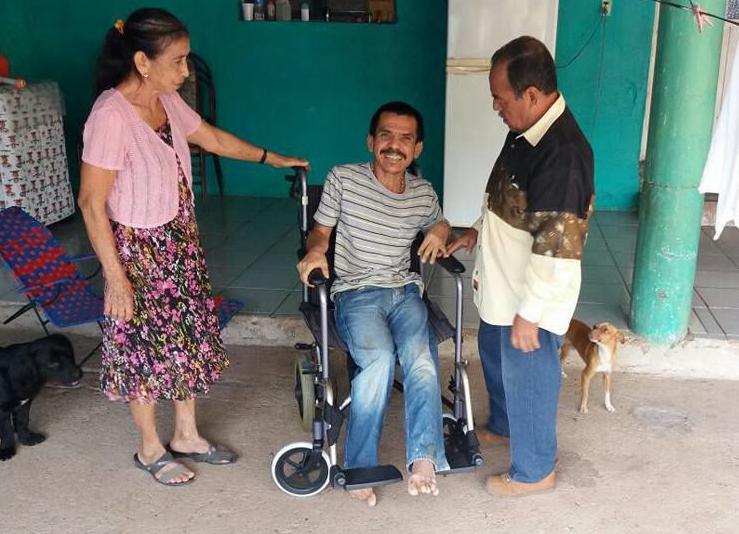 A new wheelchair for Arteaga man
