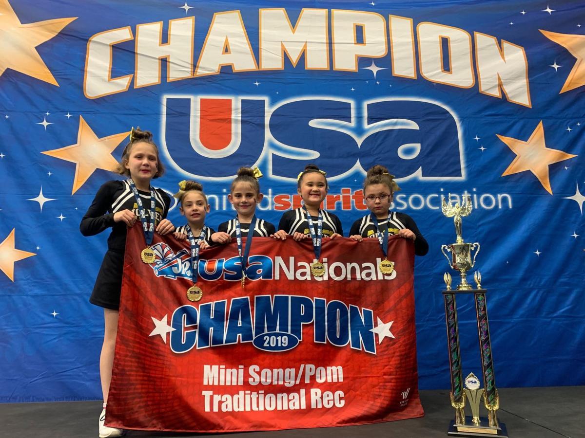 American Canyon Youth Football & Cheer's JV cheer team