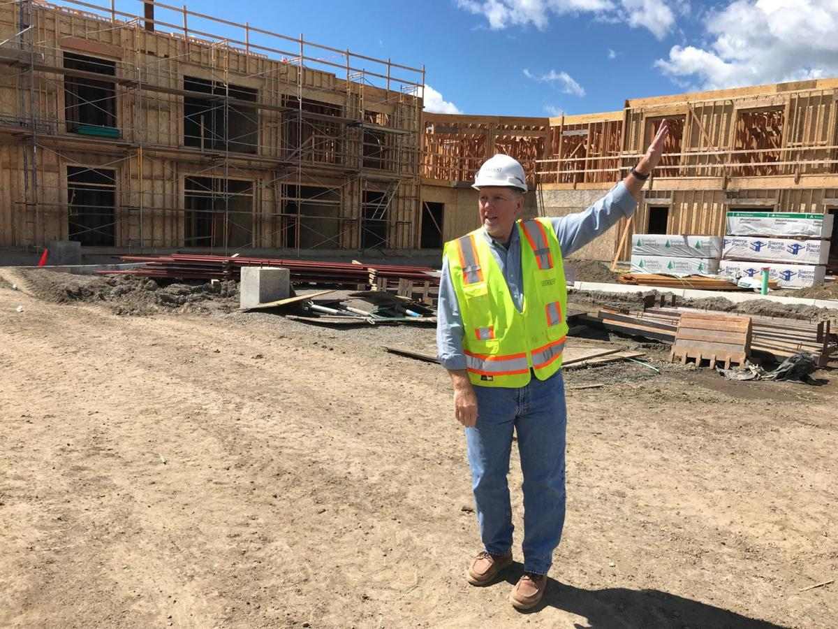 Bryan Holt of Deacon Construction at the site of the future Watermark at Napa Valley senior living community.